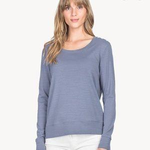 NWT Lilla P Long Sleeve Button Shoulder Sweatshirt